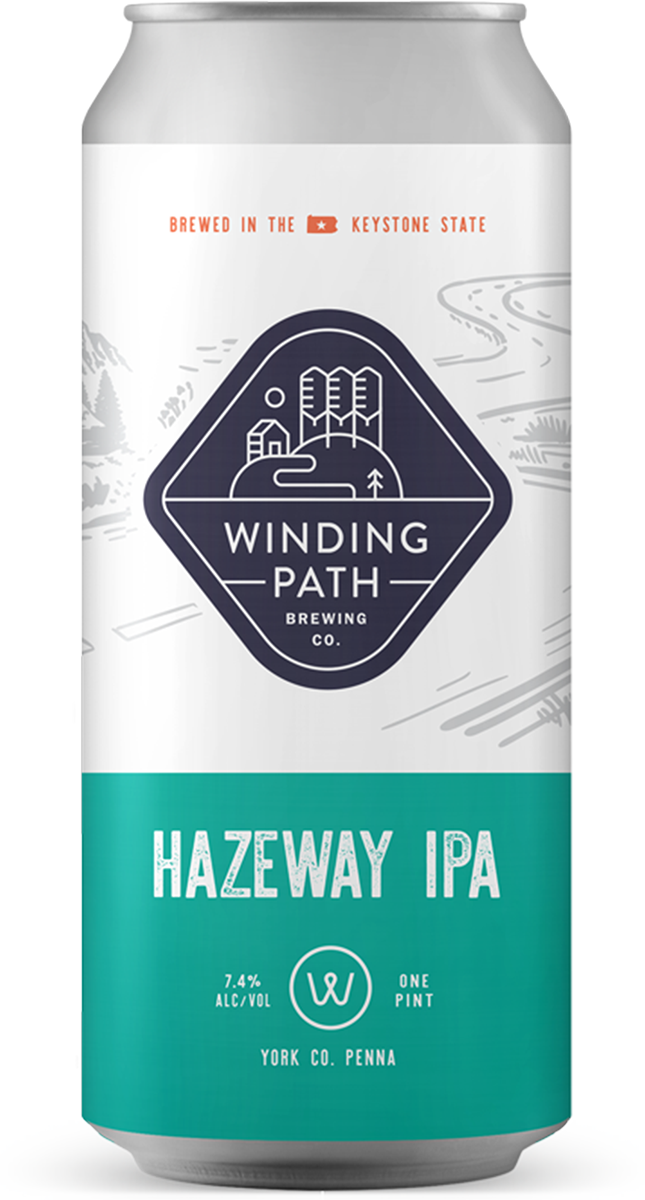 Winding Path Brewing Co. Can: Hazeway IPA